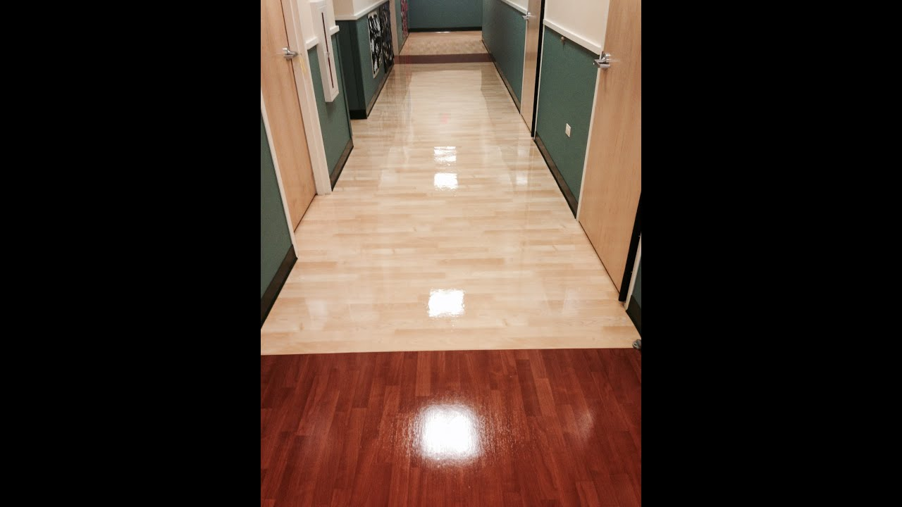 Hardwood Floor Stripping Part - 29: Vinyl Floor Cleaning Stripping Waxing And Buffing In Chicago - YouTube