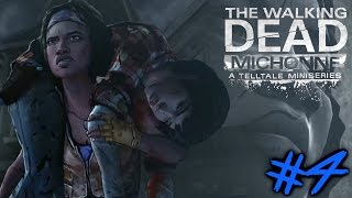 THE WALKING DEAD (MICHONNE) : Let's Play #4 [FACECAM] - DIE GROßE FLUCHT !!