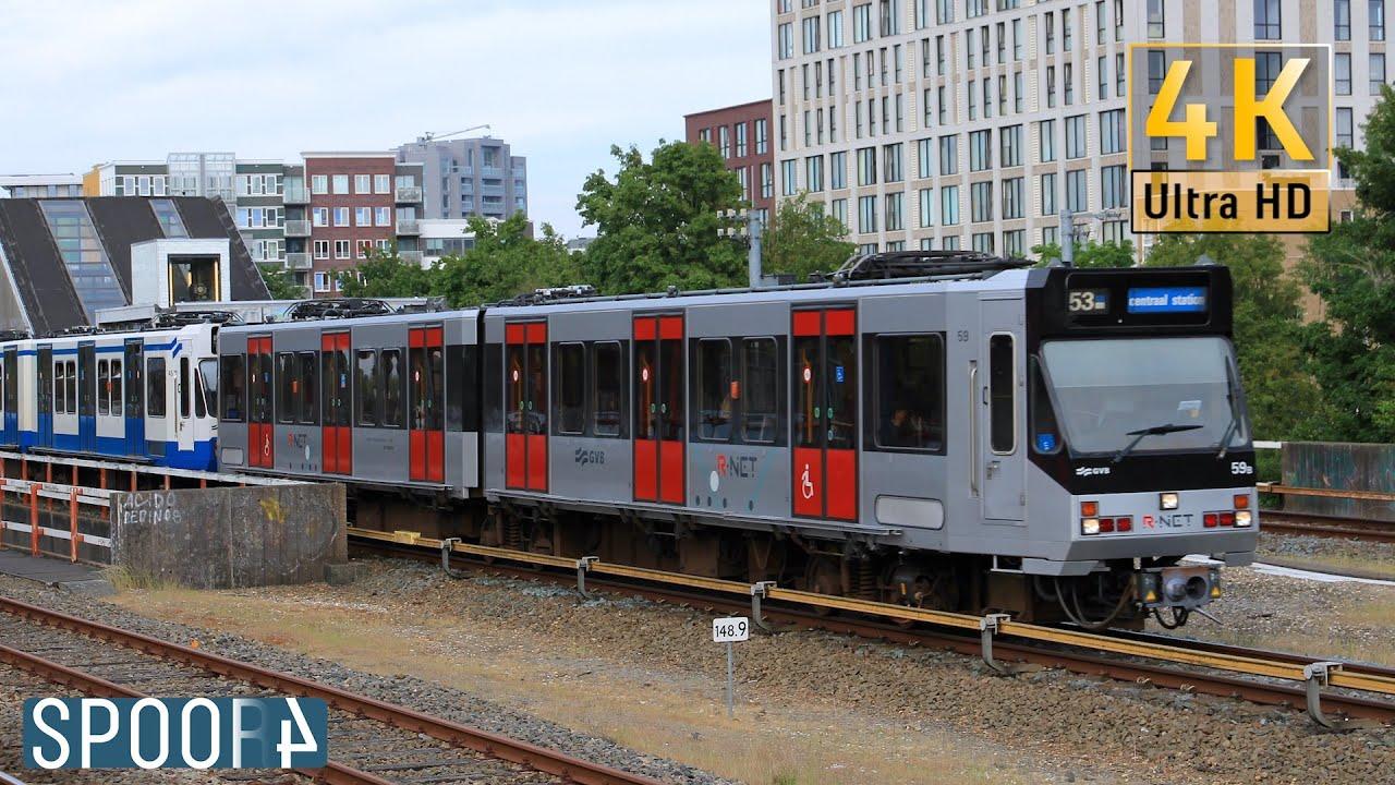 Vertrek GVB S1/S2 59, 45 en 63 van Station Diemen Zuid