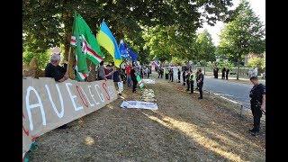видео В Хельсинки продолжаются акции протеста из-за встречи Путина и Трампа
