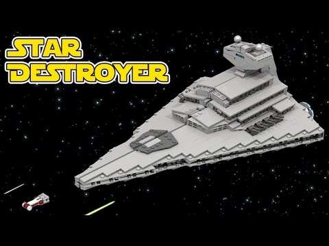 Lego Star Destroyer Starwars 14000 Micro Scale Youtube