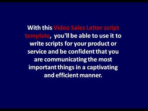Give you the perfect video sales letter script template for yo...