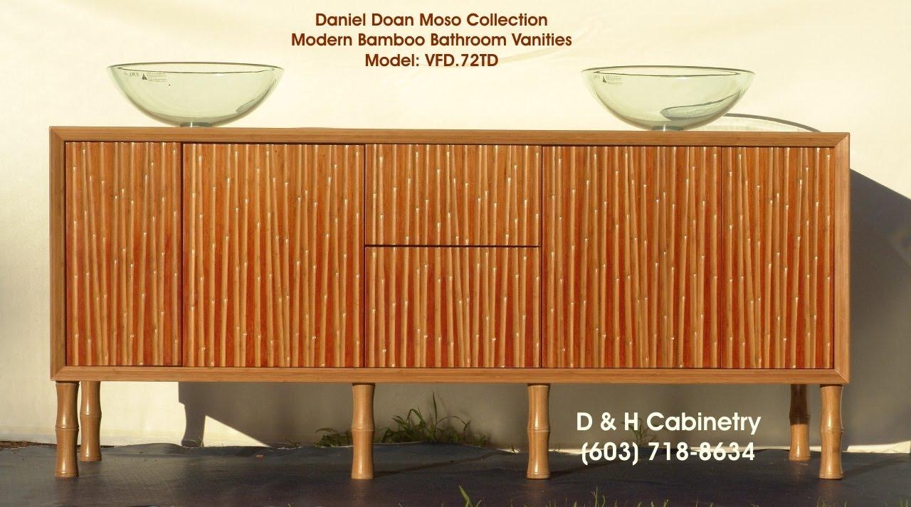 "kyoto 72"" modern bamboo bathroom vanity - boulde co. washington dc"