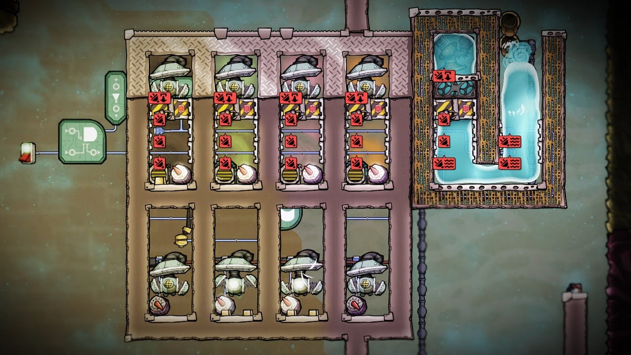 Crazy Super Door Compressor! Oxygen Not Included Automation Preview