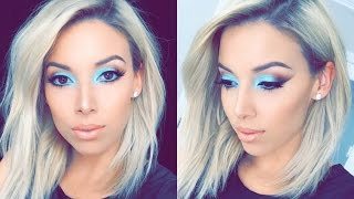 Spring Aqua Makeup Tutorial | LustreLux