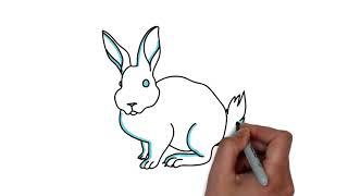 Как нарисовать зайца.Рисуем животных