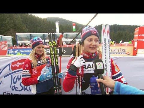 Ingvild Flugstad Östberg rörd till tårar efter andraplatsen - TV4 Sport