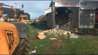 Raiders use digger to target a supermarket cash machine in County Durham | ITV News
