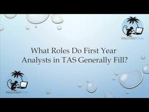 What Roles Do First Year Analysts in Transaction Advisory Services Generally Fill?