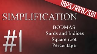 Simplification part 1 (Tamil) IBPS/RRB/Clerk 2015 2017 Video