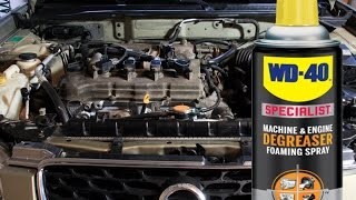 Safely Clean and detail your engine bay without water using WD-40 Specialist Degreaser