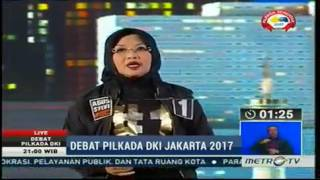 NGAKAK..! Reaksi Sylvi saat di permalukan ahok pada debat CAGUB DKI Ke 2 pada 27 januari 2017