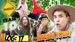 TEAM 10  GOES ON A SAFARI (DANGEROUS) w/ Jake Paul, Kade, Tessa & Martinez Twins