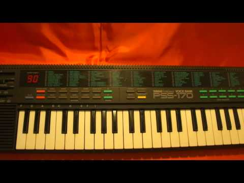 YAMAHA KEYBOARD PSS-170 PSS 1980's SOUND DEMO DEMONSTRATION SYNTHESIZER CIRCUIT BENDING NOISE EFFECT