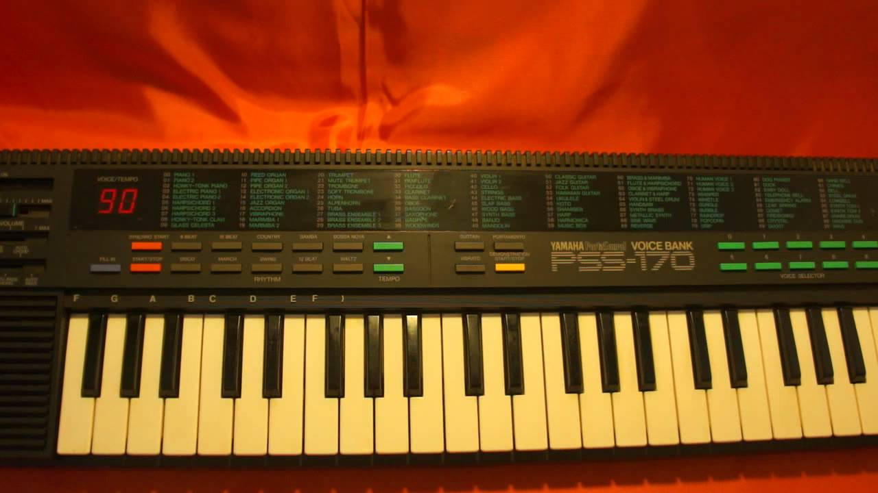 Yamaha keyboard pss 170 pss 1980 39 s sound demo for How to repair yamaha keyboard