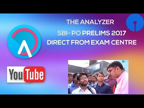 SBI PO Exam Analysis by Students Live From  Exam Centres