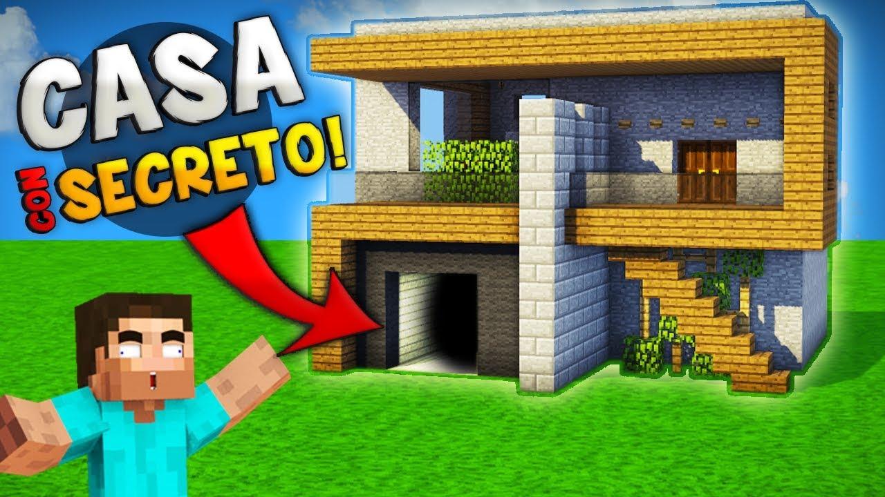 Minecraft como hacer una incre ble casa moderna con super for Casa moderna 7x7