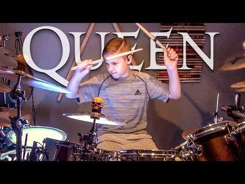 BOHEMIAN RHAPSODY - QUEEN - Drum Cover by Avery Drummer Molek (11 year old Drummer)
