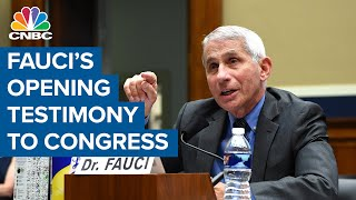 Watch Dr. Anthony Fauci's opening testimony to Congress