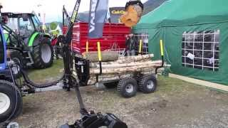 Vahva Jussi crane and trailer in Dyrsku'n 2012 exhibition Norway