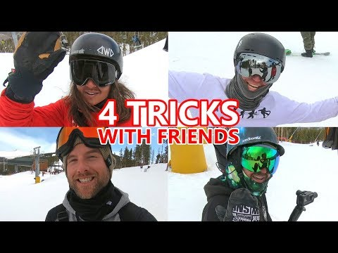 4 Snowboarding Tricks with Friends