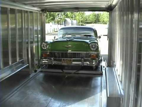 Loading a '56 Belair and VW Super Bus