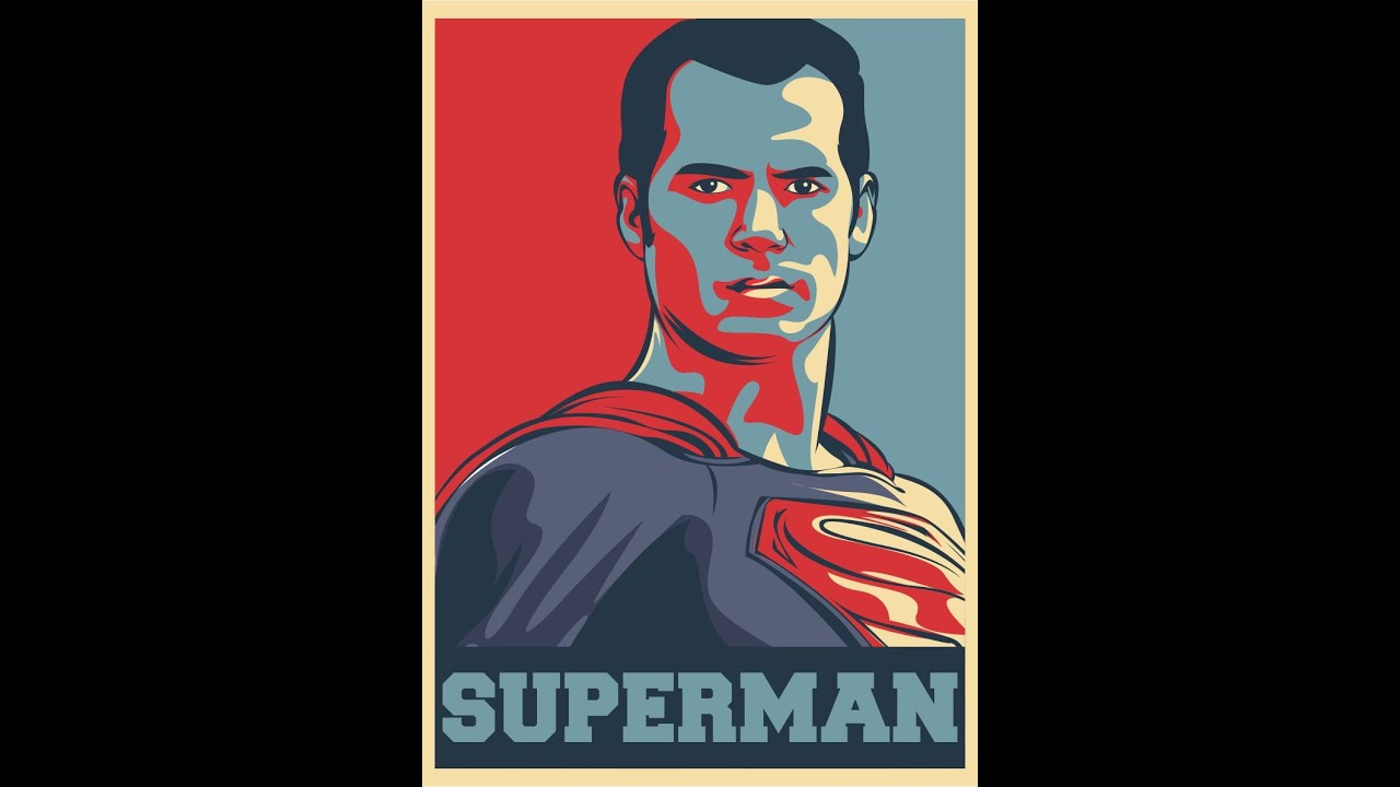 how to draw superman hope poster style youtube