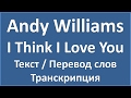 Andy Williams I Think I Love You текст перевод и транскрипция слов mp3