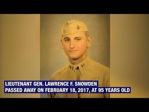 Lt. Gen. Lawrence F. Snowden Passes Away