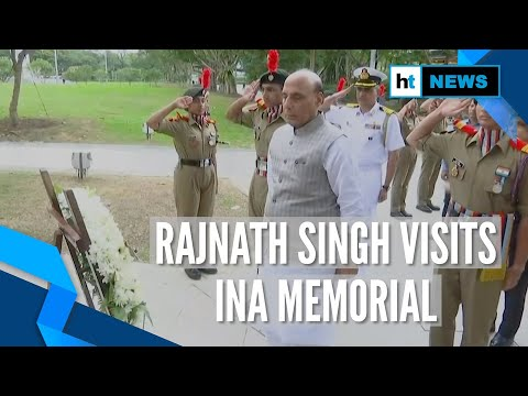 Rajnath Singh pays tribute to freedom fighters at INA Memorial in Singapore