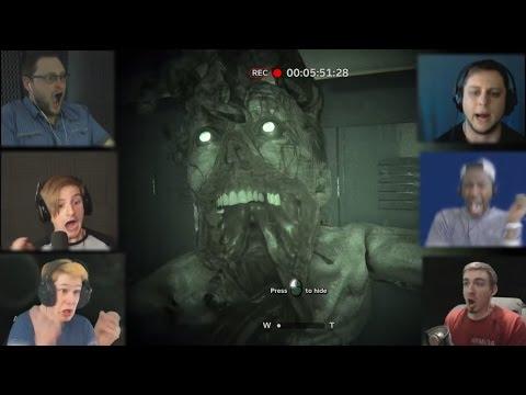 Реакции Летсплейщиков на Нападение Монстра из Outlast 2 Demo