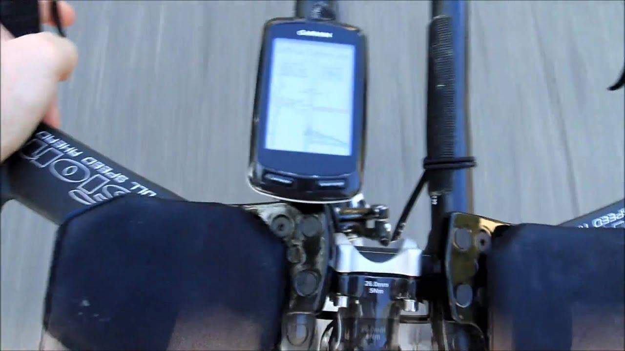 Garmin Edge 800 On Street Bike Routing Youtube
