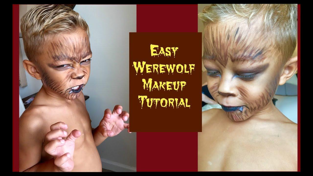 Easy Werewolf Halloween Makeup - YouTube