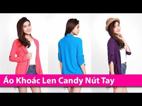 Áo Khoác Len Candy Nút Tay - Áo Khoác HCM Chuyên áo Khoác Thời Trang AoKhoacHCM.com