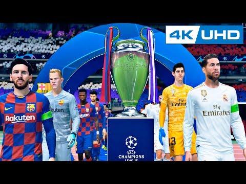 BARCELONA VS REAL MADRID CHAMPIONS LEAGUE FINAL | FIFA 20 4K