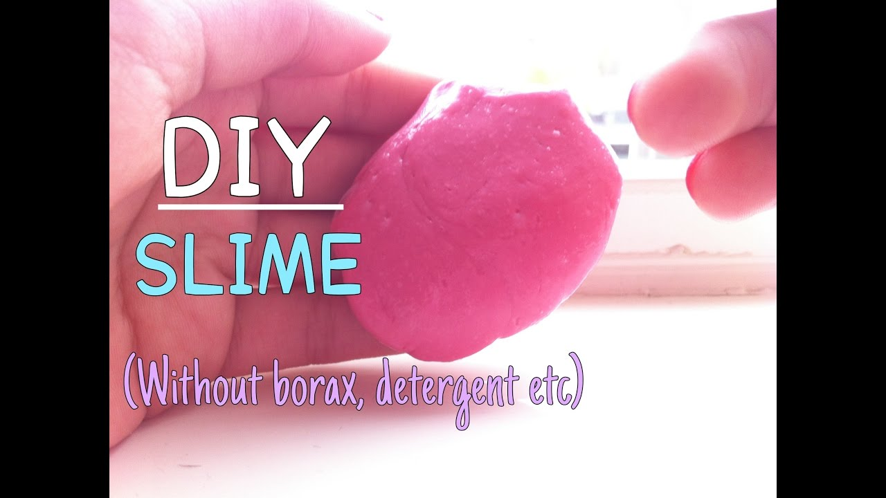 how to make slime without borax or eye drops