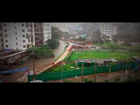 "Dhaka Street, Raining Moment ||Time lapse|| ""Cloudy Weather"""