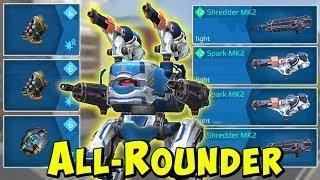 The All-Rounder: Blitz Shredder & Spark Mk2 Gameplay War Robots Live WR