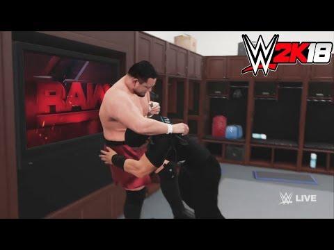 WWE-2K18-Roman Reigns vs.Samoa Joe  - backstage brawl  Match- -RAW 2017 thumbnail