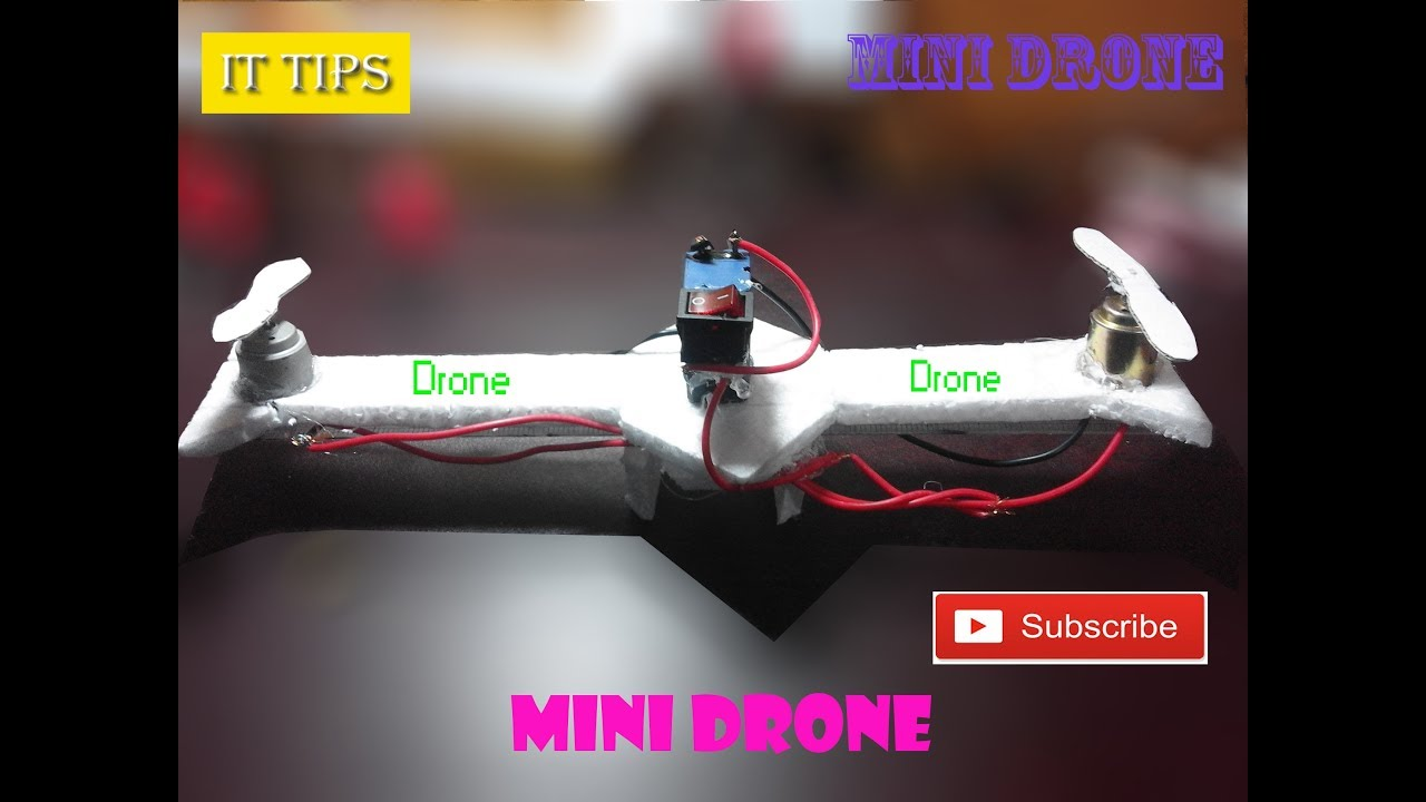 How To Make A Mini Drone Using Two Motors