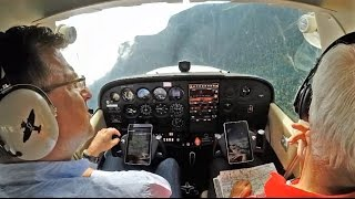 Mountain flying in a C172 - must see!