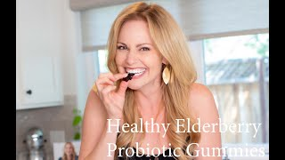 Healthy Elderberry Probiotic Gummies
