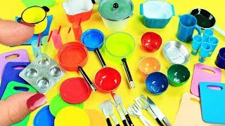 20 DIY Miniatures Kitchen / Cooking  Stuff  #1- Each in less than 30 seconds - simplekidscrafts