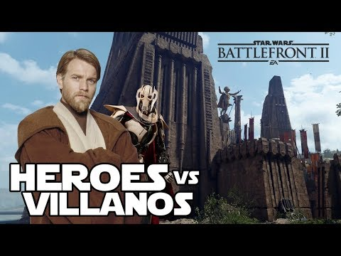 Heroes vs villanos: Don terreno alto y el general bronquitis - Star wars Battefront 2