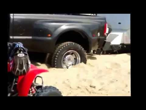 Ford F-450 Pulling 7tons at Pismo beach huckfest 2014