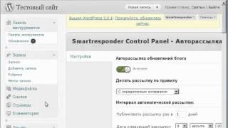 Возможности плагина  WP Smartresponder Control Panel