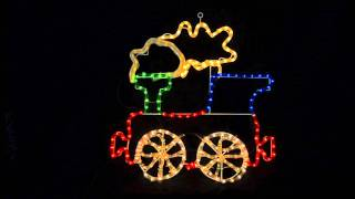 Xs0838 Flashing Rope Light Train Decoration