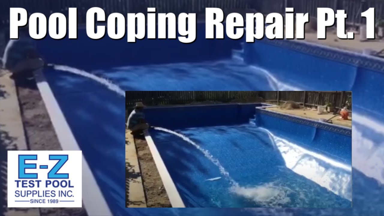Pool Coping Repair And Liner Installation Part 3 Youtube