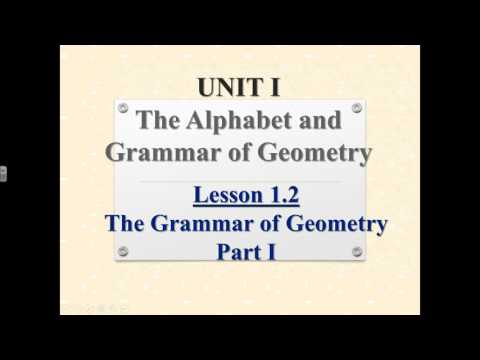 2017 2018 Preview Video 1 1 The Alphabet of Geometry