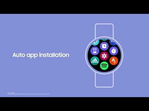 Samsung One UI Watch Video Example Phone Synchronization